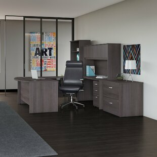 5 Piece Office Set with Hutch ..