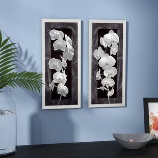 U0027Orchid Opulence Iu0027 2 Piece Framed Graphic Art Print Set