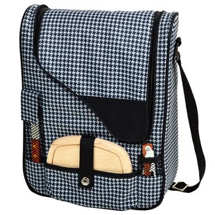 6 Can Houndstooth Wine and Cheese Picnic Cooler