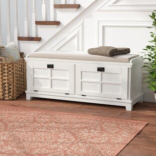 Ferryhill Wood Storage Bench by Three Posts