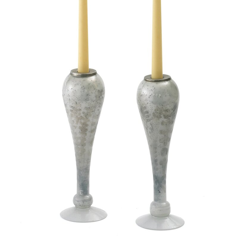 House of Hampton Droplet Glass Candlestick