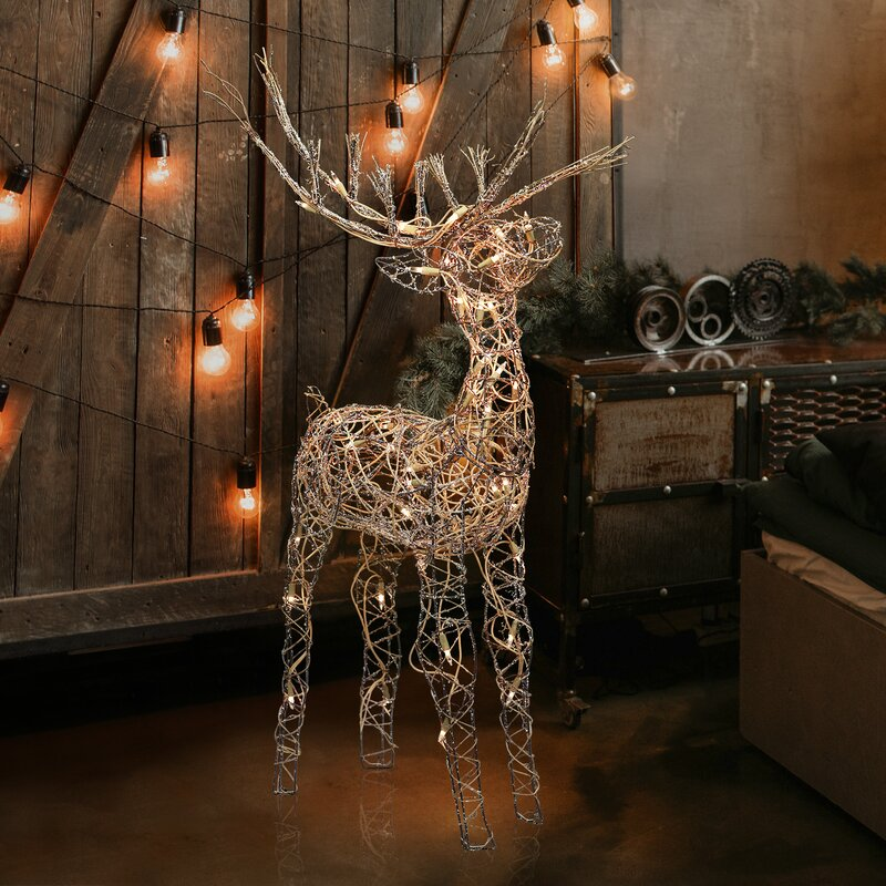 Lark Manor Reindeer Lighted Display
