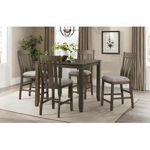 Taneytown Space Saver 5 Piece Pub Table Set
