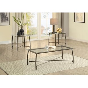 Bonin 3 Piece Coffee Table Set