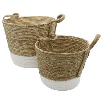 2 Piece Seagrass Basket Set Reviews Joss Main