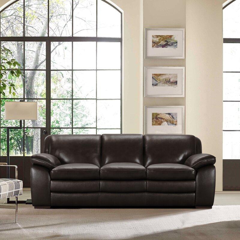 Latitude Run Talon Contemporary Leather Sofa | Wayfair