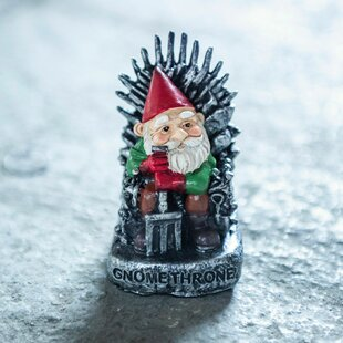 Croom Small Gnome Throne Garden Ornament By Happy Larry