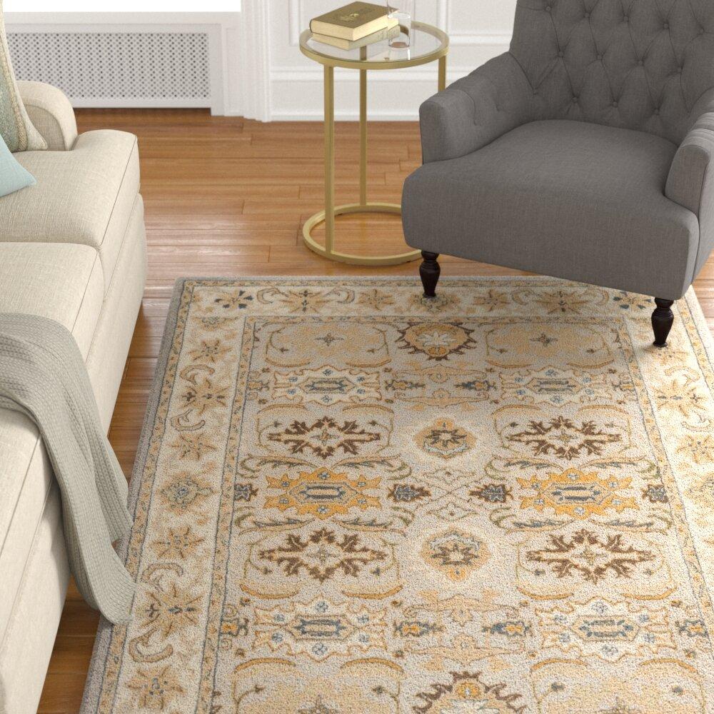 Charlton home cranmore hand tufted wool light grey grey area rug reviews wayfair