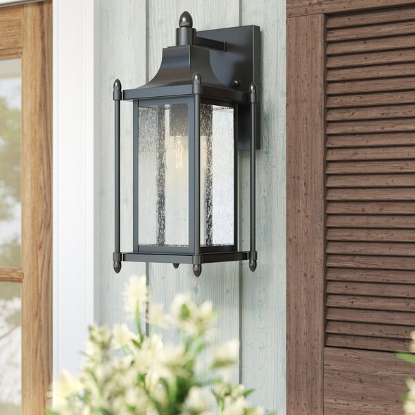 Abbott Black Outdoor Wall Lantern by Sol 72 Outdoor™