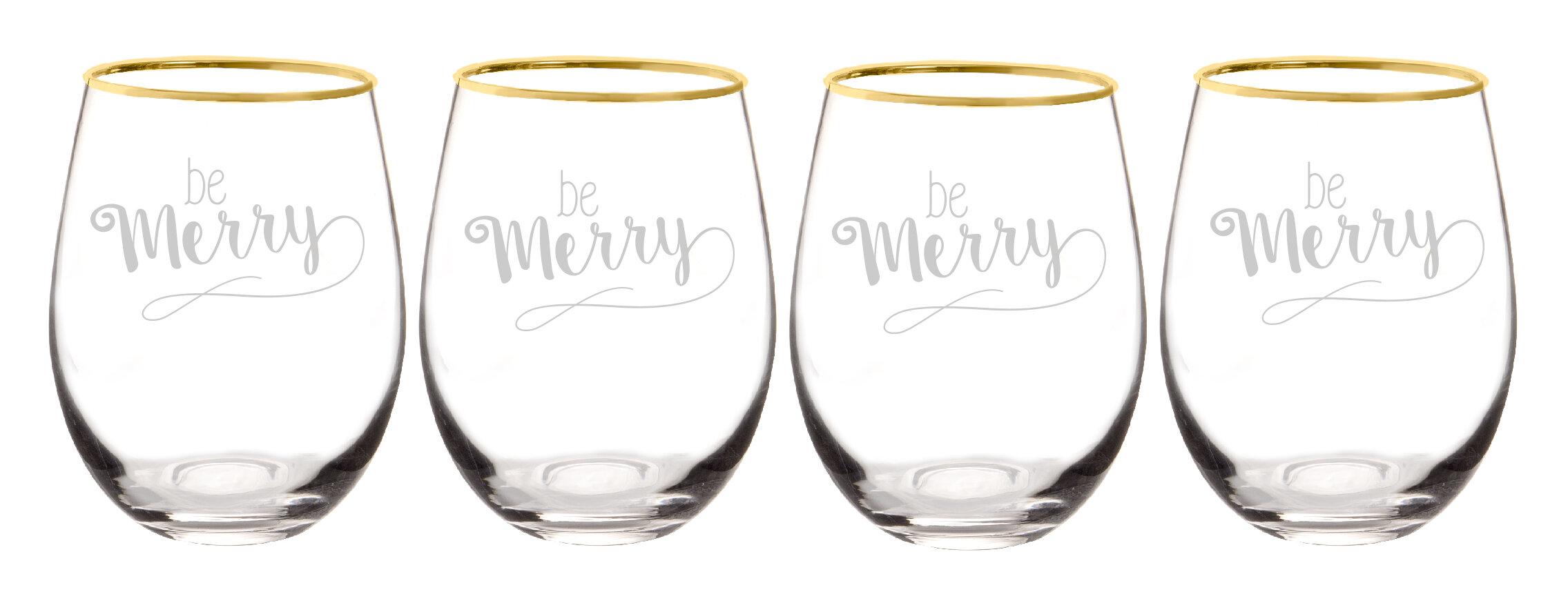 The Holiday Aisle Dunder 19 Oz Stemless Wine Glass Wayfair