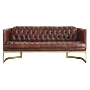 Dane Leather 3 Seater Loveseat By Williston Forge