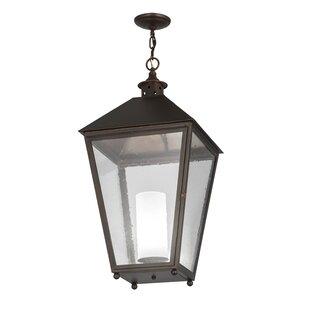 Meyda Tiffany Greenbriar Oak Stafford 1-Light Lantern Pendant