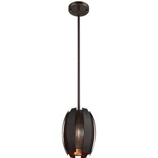 Schroer 2 Tone 1-Light Cylinder Pendant by Ivy Bronx