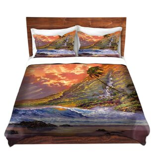 Bay Isle Home Cremont David Lloyd Glover Dawn in Oahu Microfiber Duvet Covers