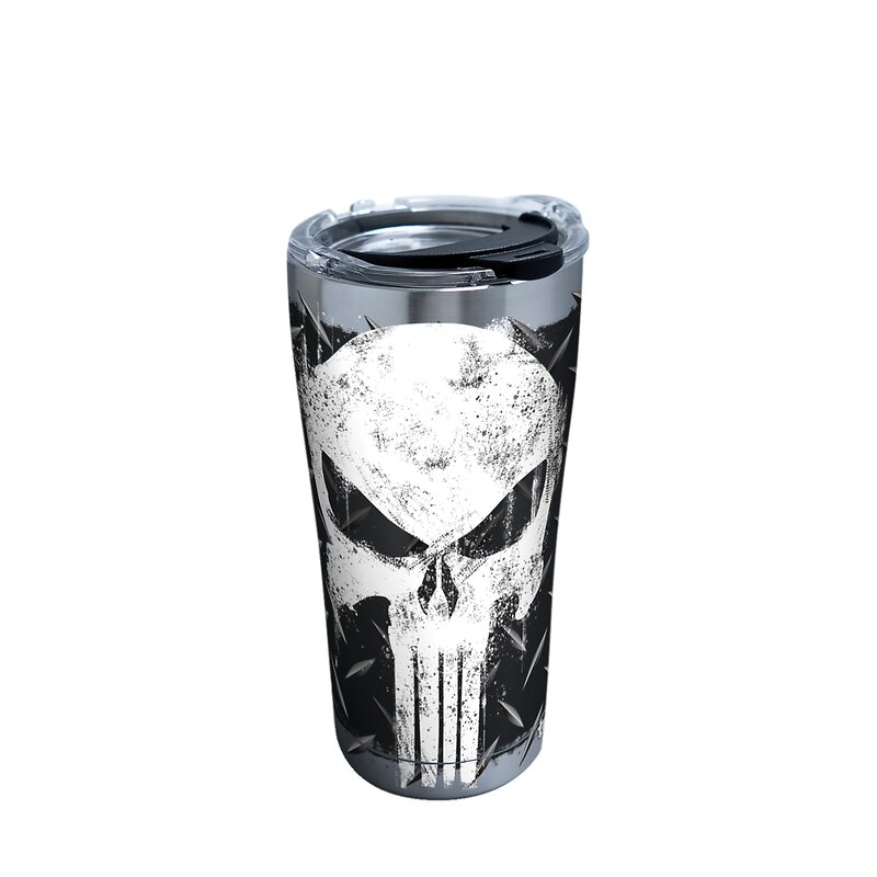 adc724751e3 Marvel Punisher Skull 20 Oz Stainless Steel Travel Tumbler