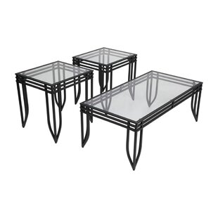 Ebern Designs Zackary 3 Piece Coffee Table Set (Set of 3)