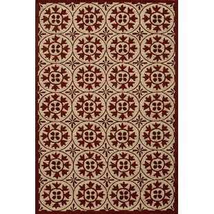 St James Hand-Hooked Red Indoor/Outdoor Area Rug