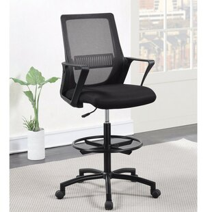 Laster Mesh Drafting Chair by Symple Stuff