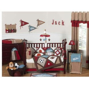 Affordable All Star Sports 9 Piece Crib Bedding Set By Sweet Jojo Designs