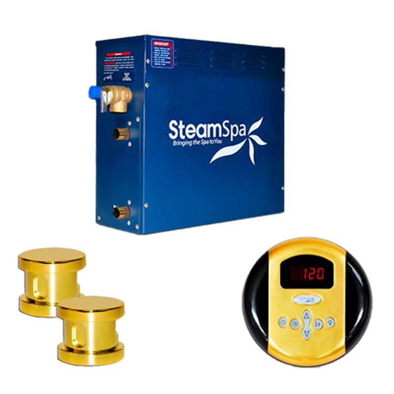 SteamSpa Oasis 10.5 KW QuickStart Steam Bath Generator Package