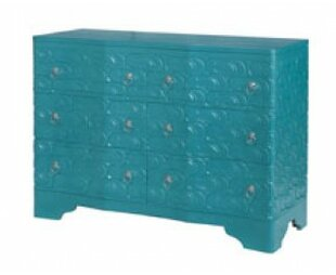 Bungalow Rose Galatea Sandal 6 Drawer Accent Chest