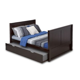 Oakwood Full Platform Bed with Twin Trundle
