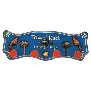 Outdoor Hang'em High Tropical Towel Rack by RAM Game Room