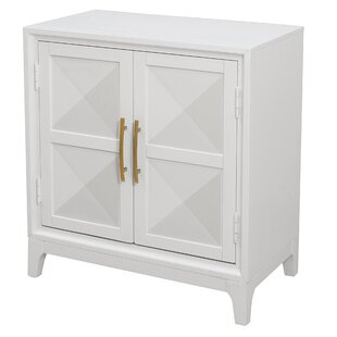 Aiello Geometric Front 2 Door Accent Cabinet