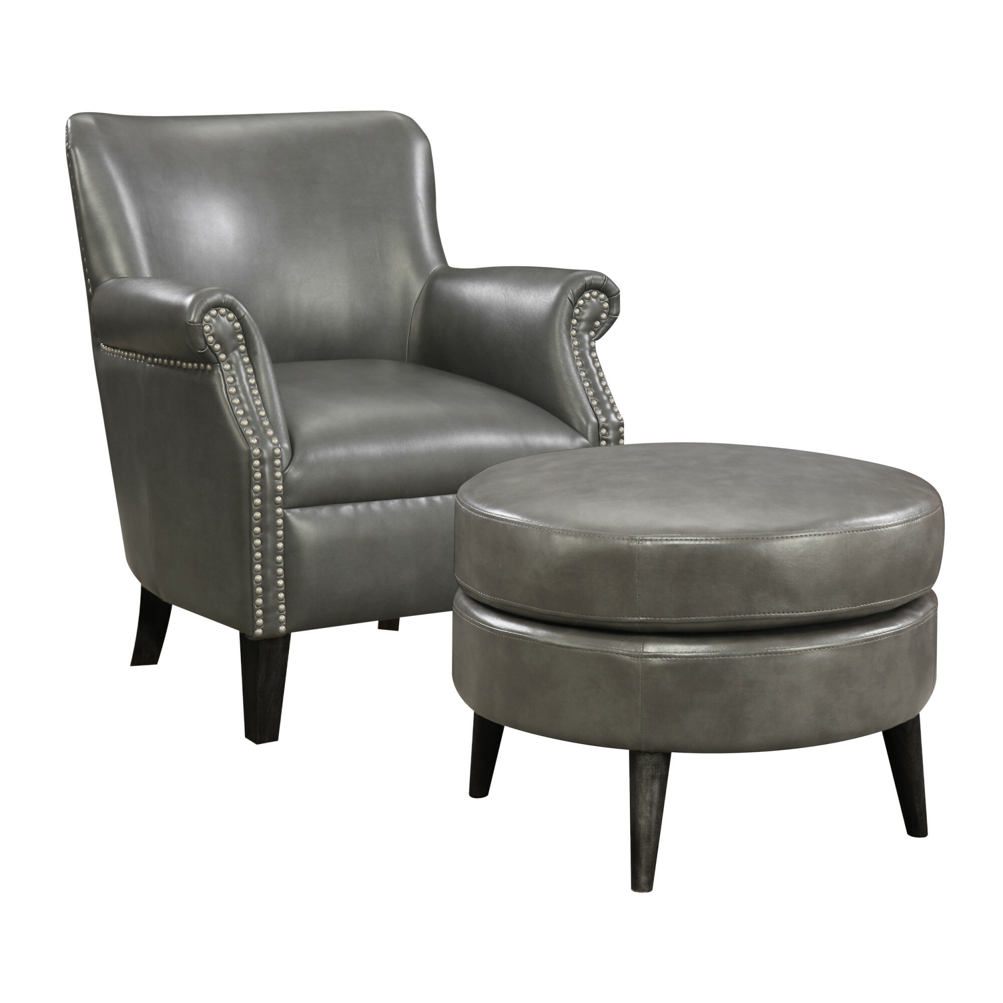 Gray Chair And Ottoman Wayfair