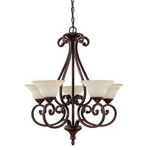Shelbina 5-Light Shaded Chandelier by Fleur De Lis Living