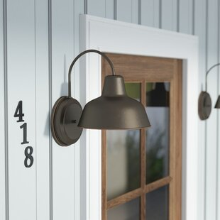 Best Price Llanes 1-Light Outdoor Barn Light By August Grove