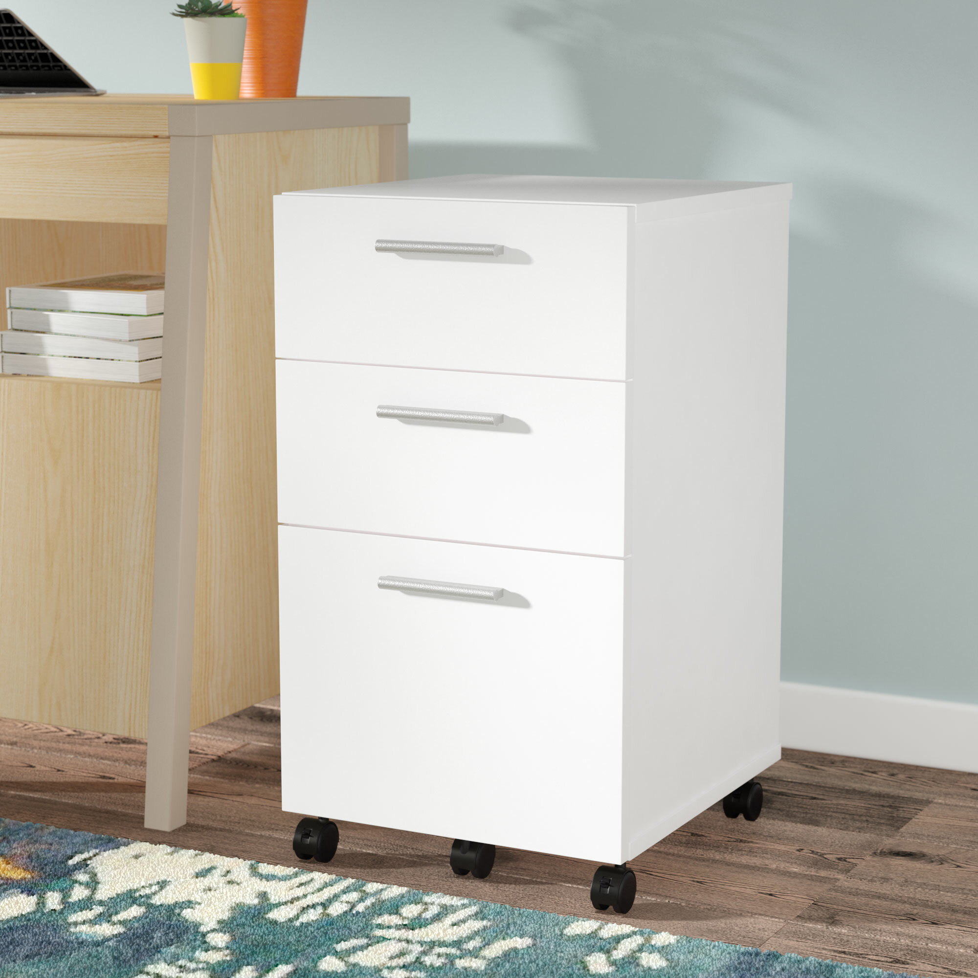 Exceptionnel Jayda 3 Drawer Mobile Filing Cabinet