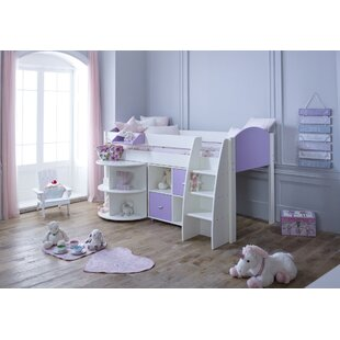 Cypress Mid Sleeper Bed With Extension Desk & Cube Unit By Isabelle & Max