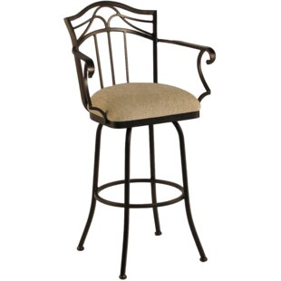 Hueytown 26 Swivel Bar Stool Red Barrel Studio