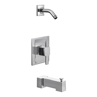 Read Reviews 90 Degree Posi-Temp Tub and Shower Faucet Trim with Lever Handle By Moen