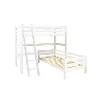 Premium European Single L-Shaped Bunk Bed By Hoppekids