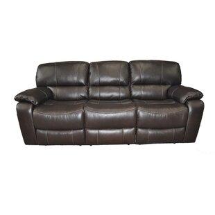 Winston Porter Leather Reclining Sofa