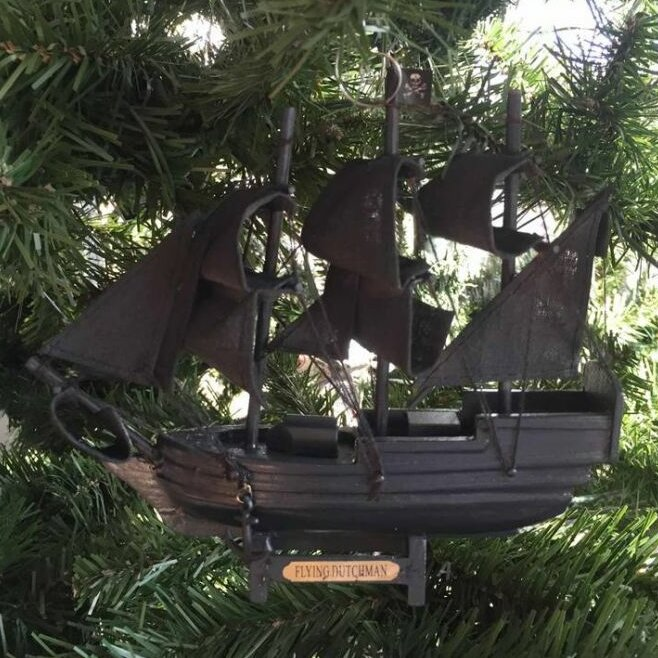 Galloway Wooden Flying Dutchman Pirates of the Caribbean Model Pirate Ship  Shaped Ornament