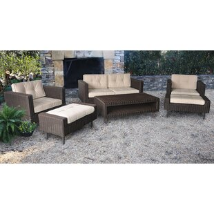 Borealis 6 Pieces Rattan Sofa Seating Group with Sunbrella Cushions