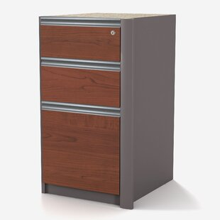 Orren Ellis Aurea 3-Drawer Pedestal