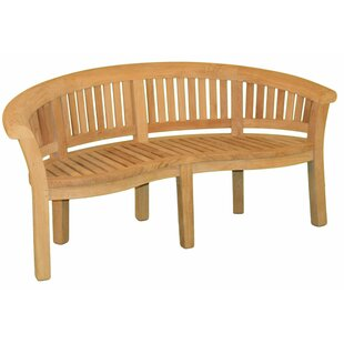 Half Moon Teak Garden Bench by Jewels of Java