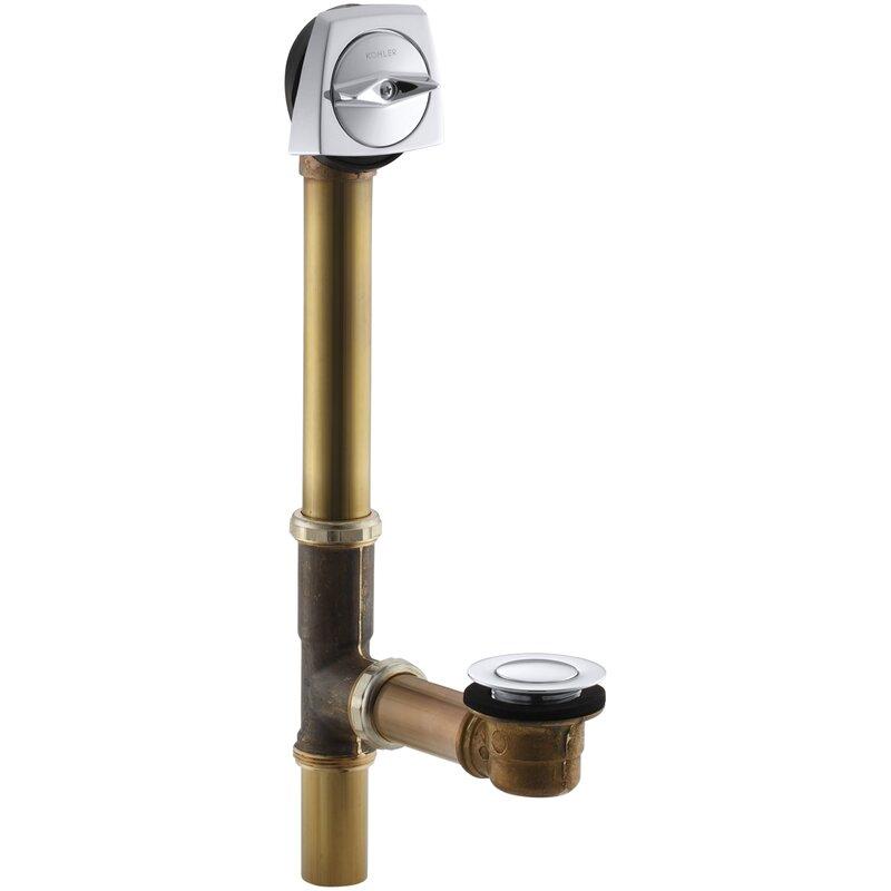"""Kohler K-7160-TF-CP Clearflo Bath Drain 14"""" to 16"""" polished chrome"""
