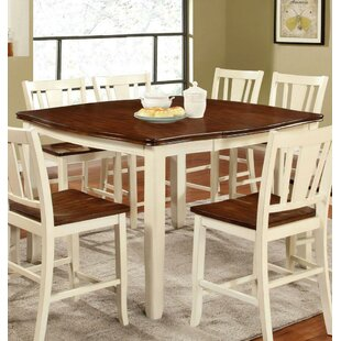 Ivy Hill Counter Height Solid Wood Dining Table August Grove