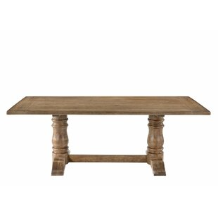 Lexie Double Pedestal Dining Table Ophelia & Co.