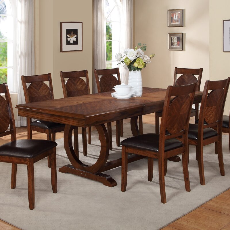 Extending Dining Room Table Adorable World Menagerie Kapoor Extendable Dining Table & Reviews  Wayfair Decorating Design