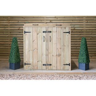 Review Wooden Double Bin Store