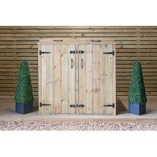 Best Price Wooden Double Bin Store
