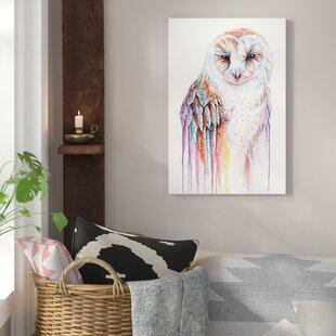 Huge Large Big Poster Thin Canvas Wall  Art Print Home Decor Animal Owl Eyes