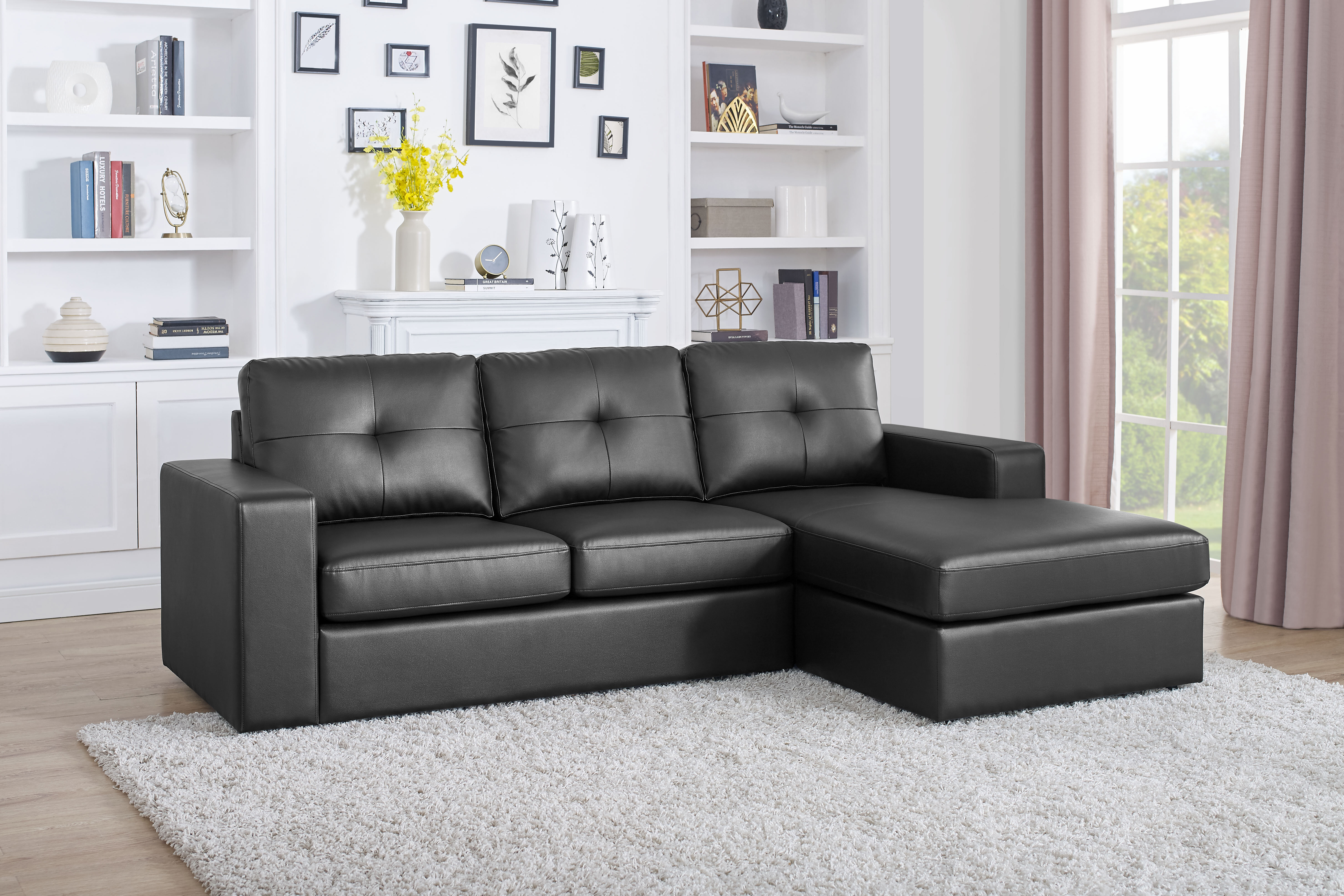 Awesome Auton 3 Seater Right Hand Facing Sectional Sofa With Ottoman Short Links Chair Design For Home Short Linksinfo