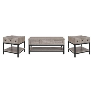 Omar 3 Piece Coffee Table Set Laurel Foundry Modern Farmhouse